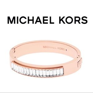 Michael Kors Rose Gold Baguette Bangle